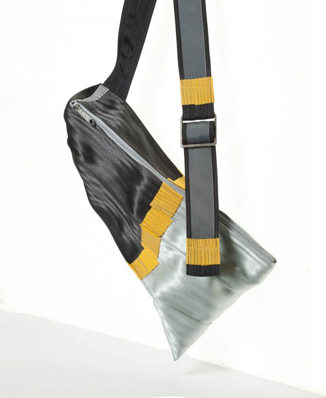 joe bag silver black small